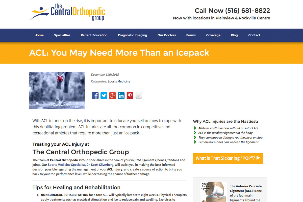 The Central Orthopedic Group