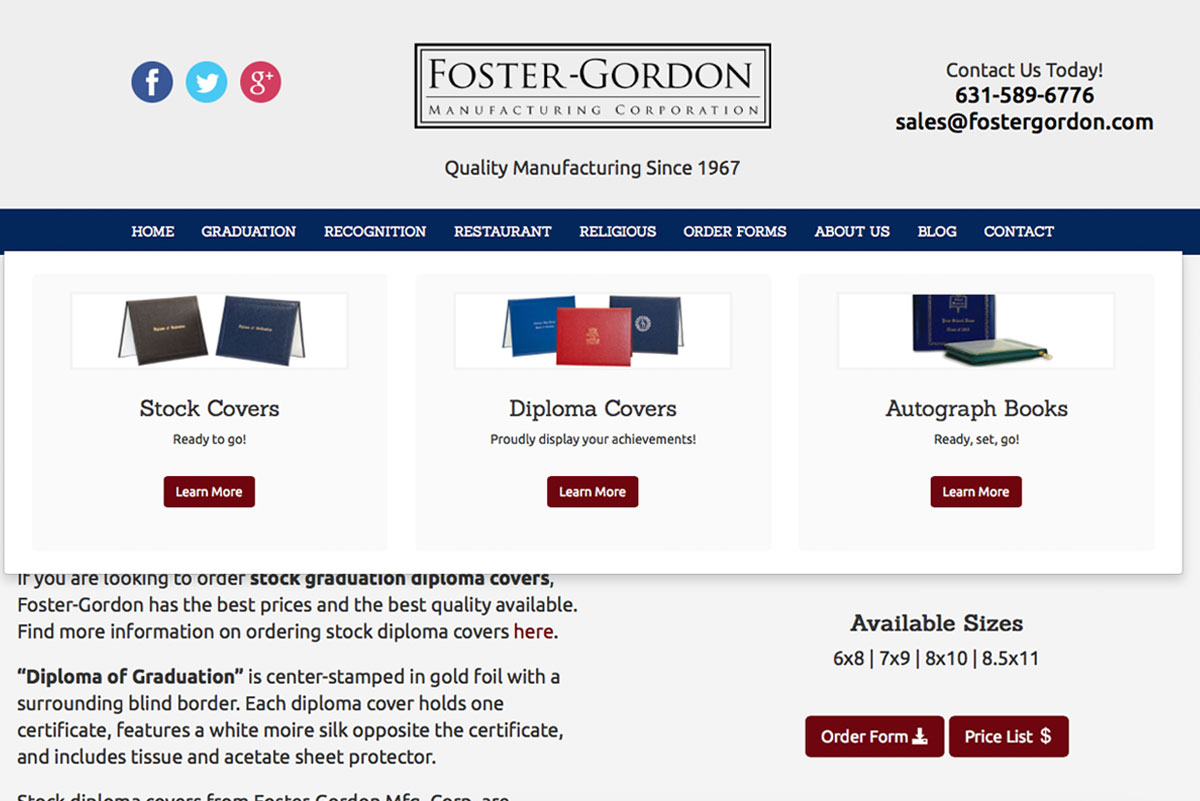 Foster-Gordon Mfg. Corp.
