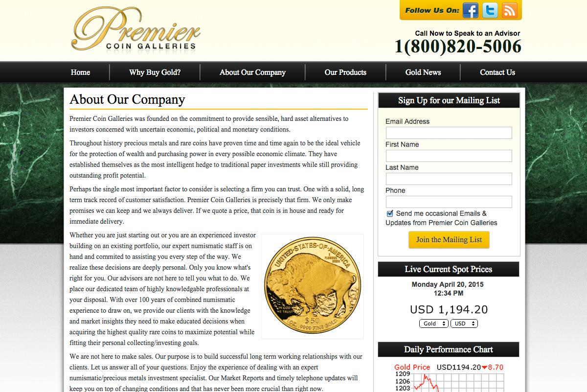 Premier Coin Galleries